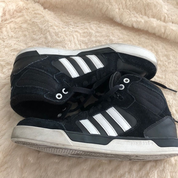 7d2ca8678287 adidas Other - Adidas Neo high tops black white Boys 6